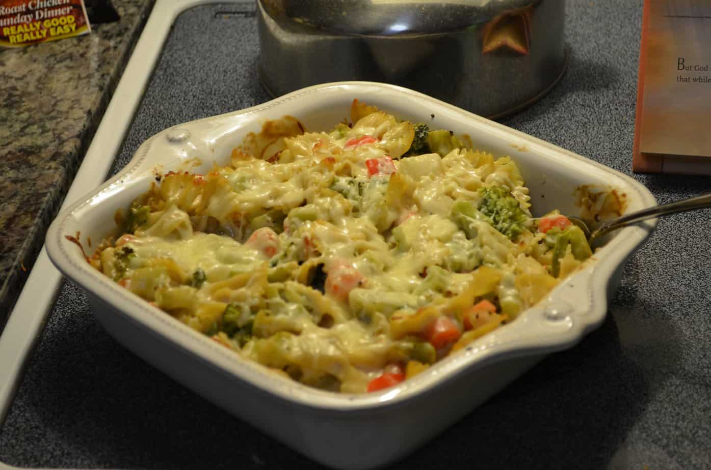 Bowtie and Vegetable Alfredo Bake 5
