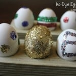 No-Dye Easter Eggs: Glitter Polka Dots and Stripes