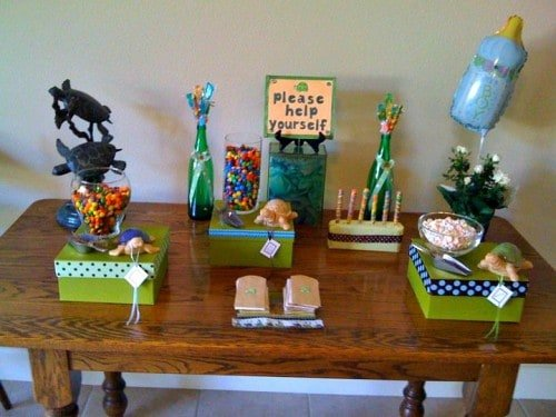 candy bar 500x375 Turtle Themed Baby Shower