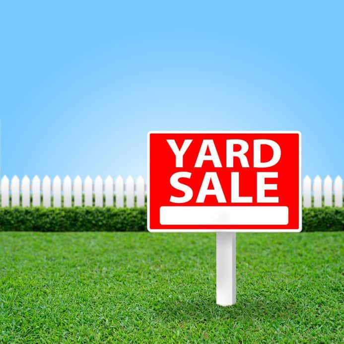 Yard Sale Sign Simply Real Moms
