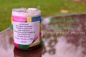 Kid Craft Alert! Stained Glass Flower Pot 1