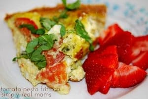 Fresh from your Garden: Tomato Pesto Frittata 1