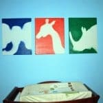 DIY Children's Nursery Art: Spray Painted Animals
