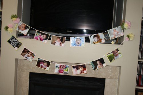 IMG 2872 500x333 First Birthday Photo Banner