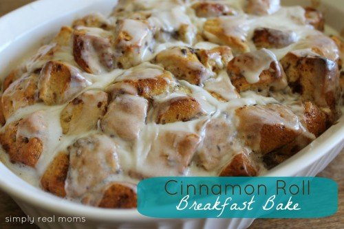 AMAZING Cinnamon Roll Breakfast Bake!
