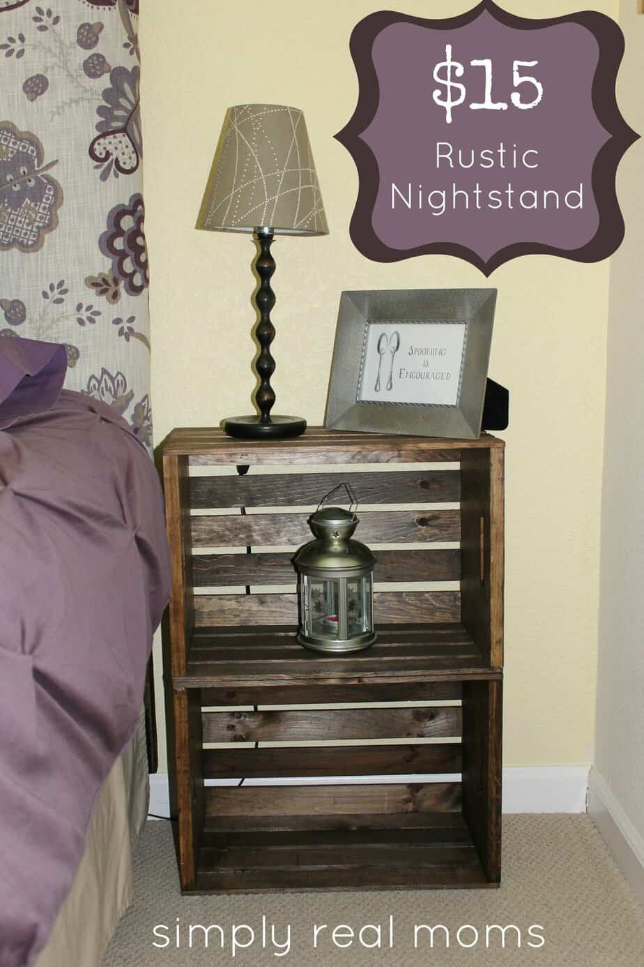 simply made sunday: $15 rustic nightstand Diy Rustic Nightstand