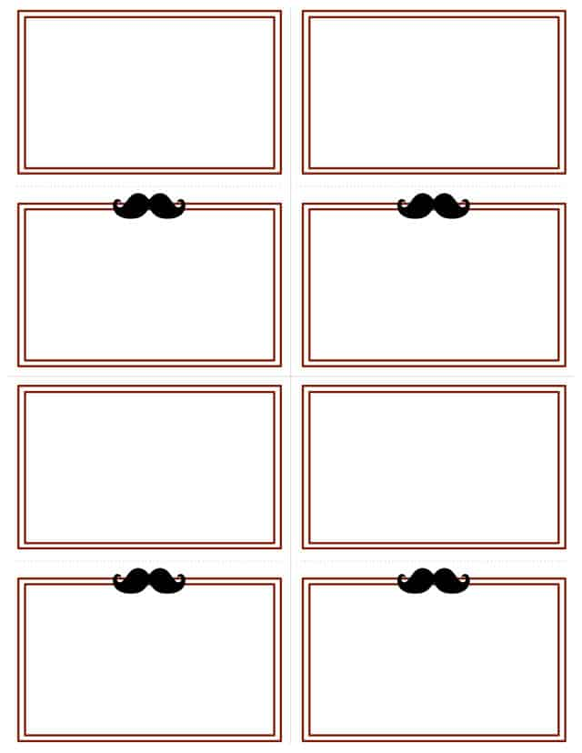 Little Man Placecards
