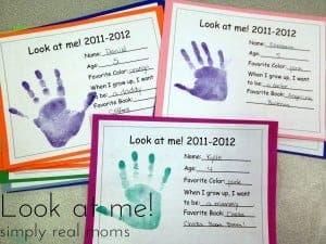 Look at me: FREE printable to watch your kids grow!  1