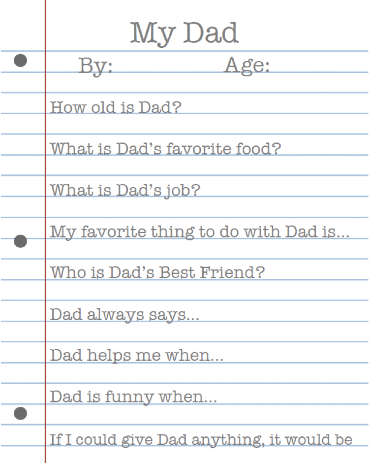 My Dad: Father's Day Printable 4