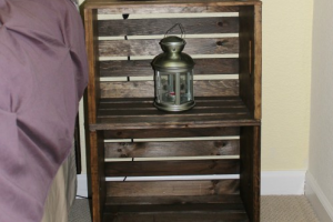Simply Made Sunday: $15 Rustic Nightstand