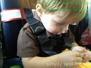Your Flying with Toddlers or Preschoolers Solution: CARES!  1