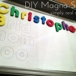 DIY Magna-Spell: Creating First Words