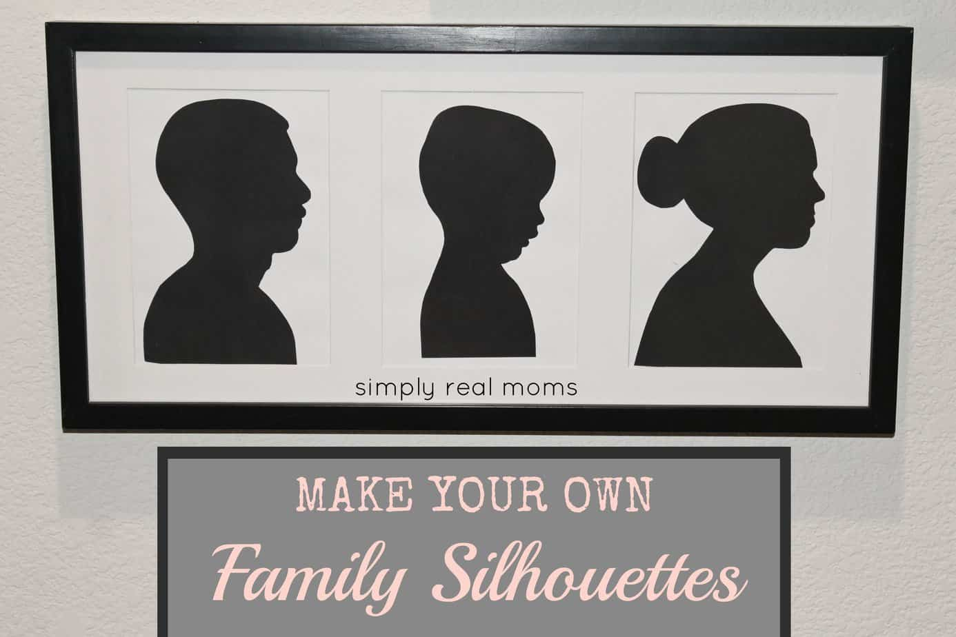 Simply Made Sunday: DIY Silhouettes 1