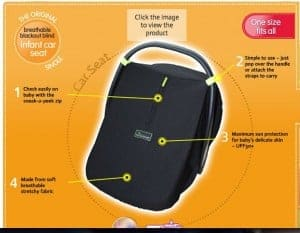 SnoozeShade for Infant Car Seats—Never Leave Home Without It! 2