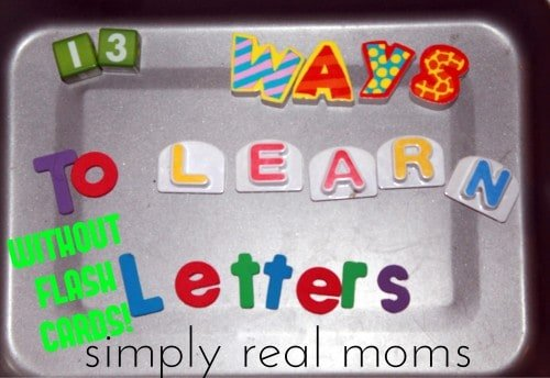 13 Ways to Learn Letters Without Flash Cards 500x344 Beyond ABC's:13 Beginning Reading Strategies