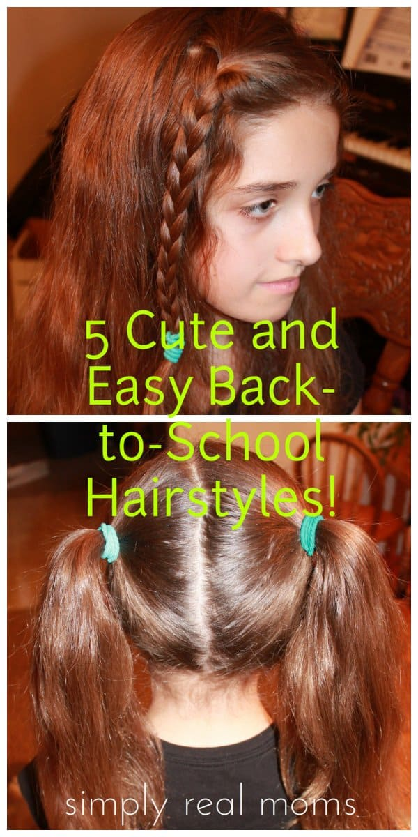 Tremendous 5 Cute And Easy Back To School Hairstyles Hairstyles For Women Draintrainus
