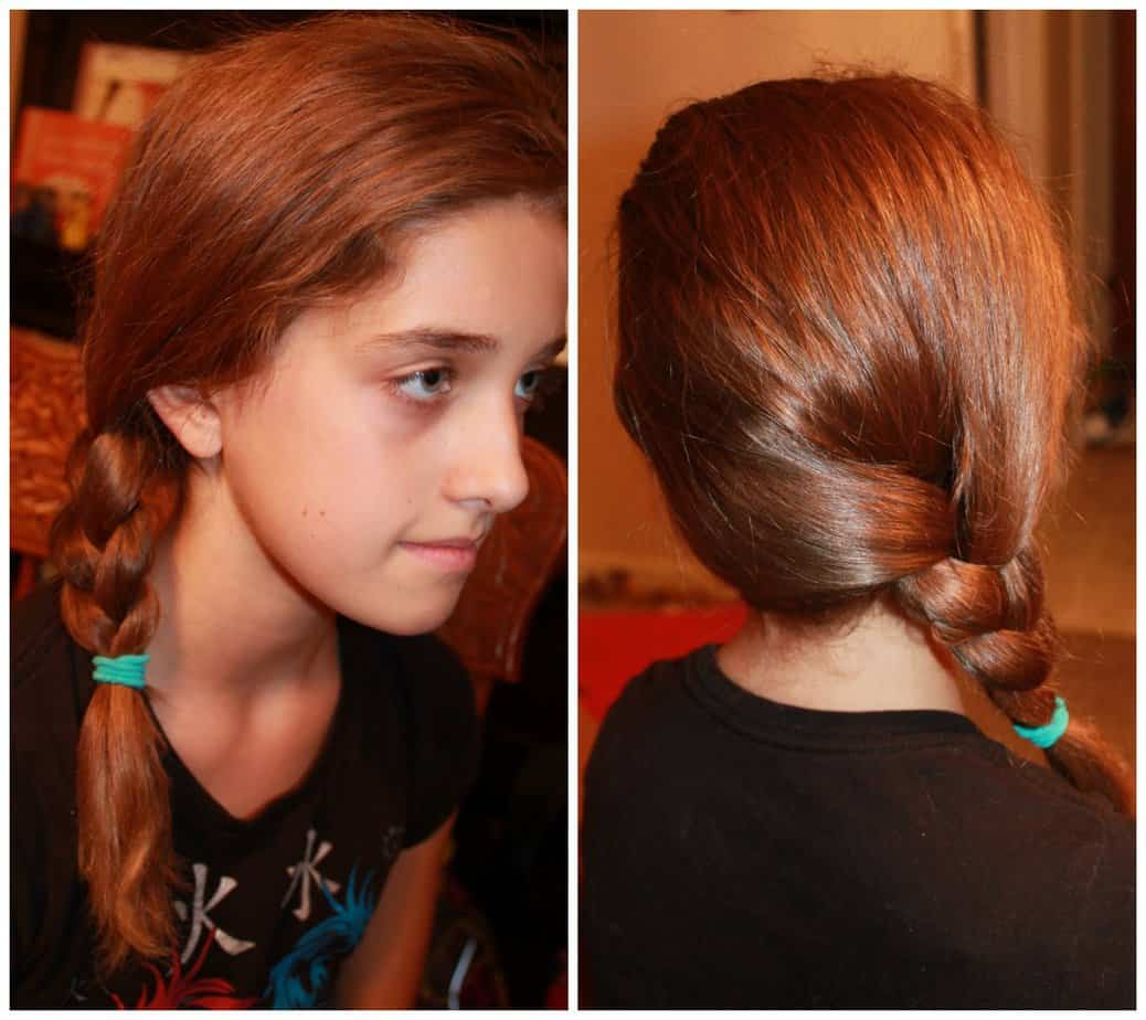5 back to school cute and easy hairstyles-side braid - Simply Real Moms