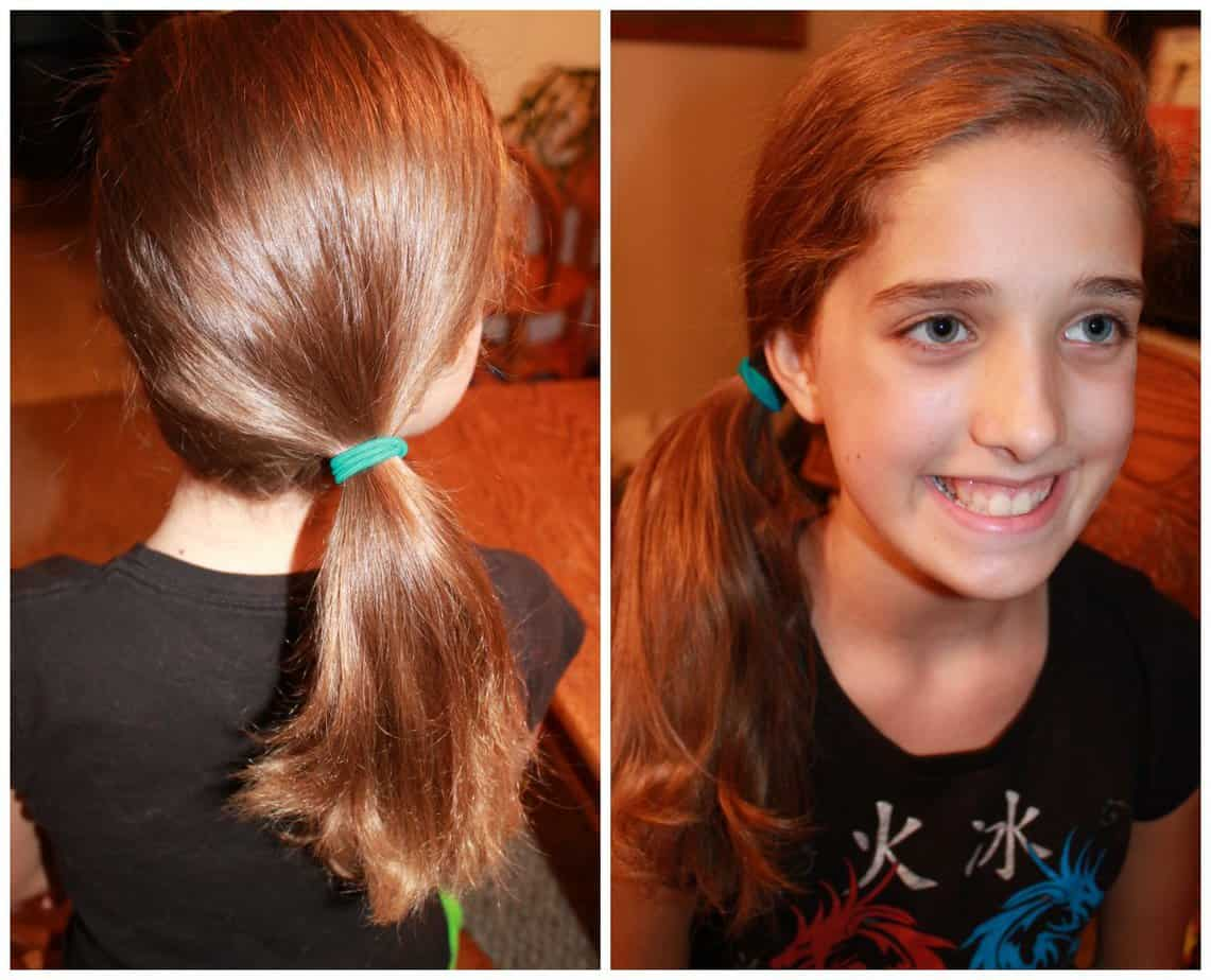 5 back to school cute and easy hairstyles-side pony - simply real moms