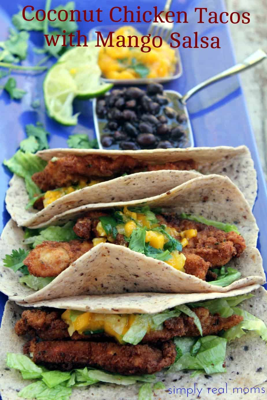 Coconut Chicken Tacos with Mango-Cilantro Salsa  1