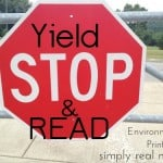 Yield, Stop and Read Environmental Print-DIY Book