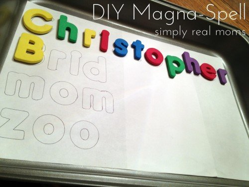 DIY Magna spell for beginner spellers 500x375 Beyond ABC's:13 Beginning Reading Strategies