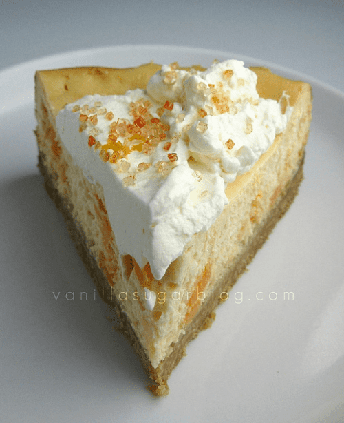 Creamsicle Cheesecake with Buttery Shortbread Crust