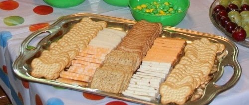 Very Hungry Caterpillar birthday party food ideas butterfly crackers and cheese 500x211 The Very Hungry Caterpillar Birthday Bash Food!