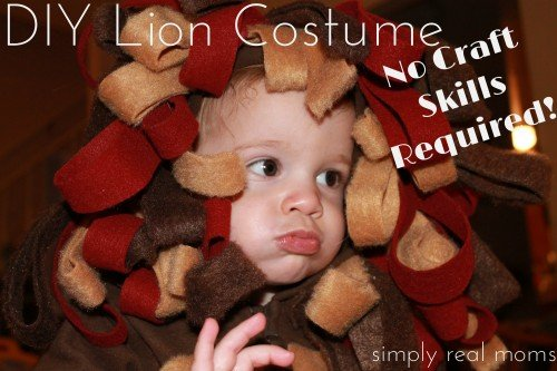 DIY Lion Costume with little to no craft skills required. This is adorable and so easy Even I can do it 500x333 DIY Lion Costume No craft skills required!