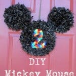 DIY Mickey Mouse Door Hanger 150x150 Jungle Themed Party  DIY  Number Piñata