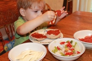 Cooking With Kids: English Muffin Pizza 4