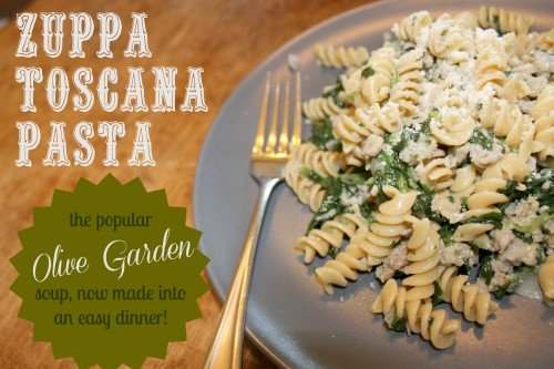Zuppa toscana pasta - What time does the olive garden close ...