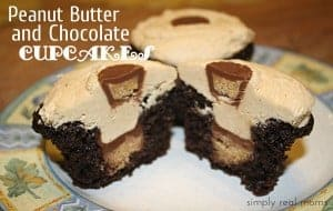 Decadent Peanut Butter and Chocolate Cupcakes 1