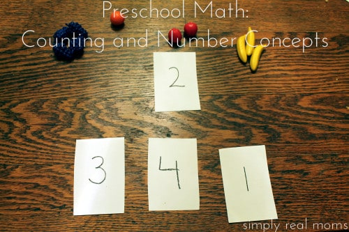 Preschool Math Counting and Number Concepts 1 500x333 15 Ways to Make Math Part of Your Day with Preschoolers