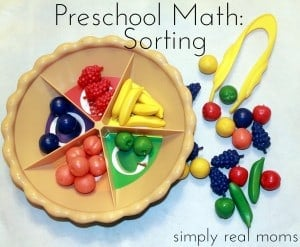 Preschool Math: Sorting 1