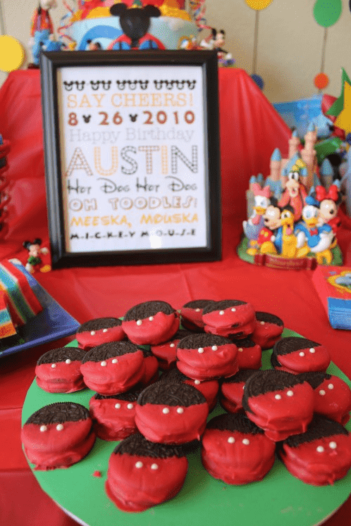 FREE Mickey Mouse Themed Birthday Printable