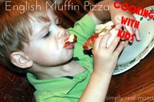 Cooking With Kids: English Muffin Pizza 1