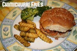 Spice Up Your Weeknight Dinner with Chimichurri Fries! 1