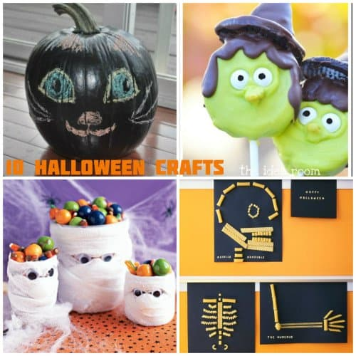 HalloweenCraftCollage 500x500 31 Days of Halloween: 10 Crafts to Do with Your Kids