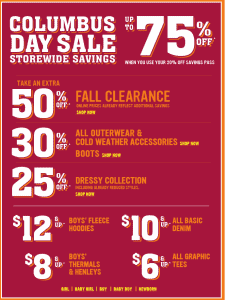Thrifty Thursday: Children's Place HUGE Columbus Day Sale!  2