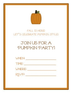 Pumpkin Invites