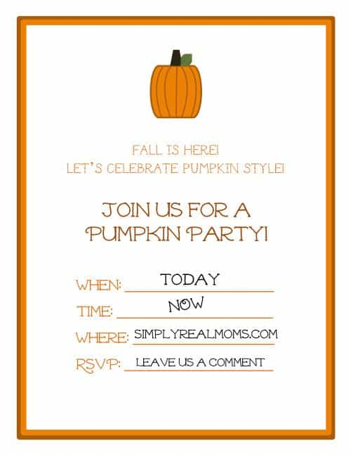 photograph about Free Printable Fall Party Invitations identify 2-Aspect Pumpkin Cake
