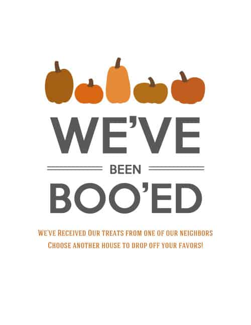 image relating to You've Been Booed Free Printable named 31 Times of Halloween: Youve Been Booed!