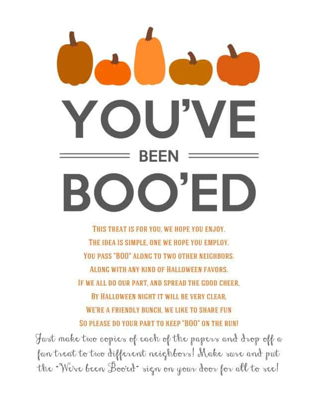 31 Days of Halloween: You've Been Booed!