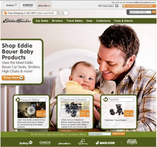 Eddie Bauer Home Page 500x468 Safety First Ask Our Expert Child Safety Mega Giveaway