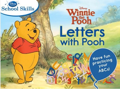 letters with pooh an app for learning toddlers
