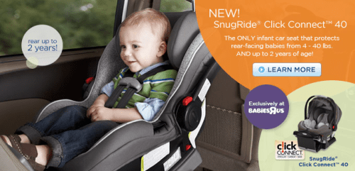 Graco Snugride Click Connect 40: The ONLY Newborn-Two Year Infant ...