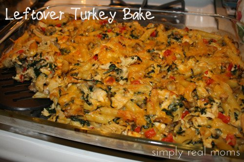 TurkeyBake 500x333 Leftover Turkey Pasta Bake