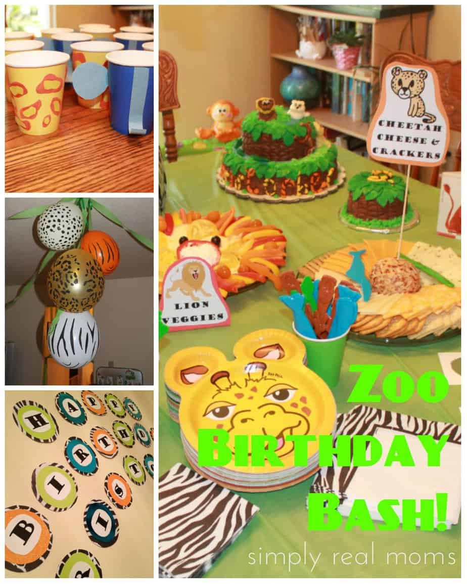 Zoo Party Ideas! TONS Of Great And Easy Ways Anyone Can Do