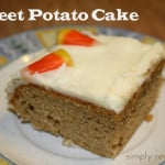 Sweet Potato Cake with Orange Cream Cheese Frosting