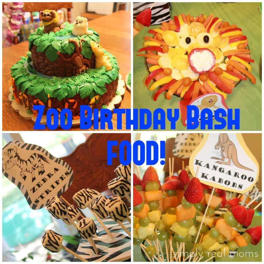 Zoo Animals Themed Birthday Party Image Inspiration of Cake and